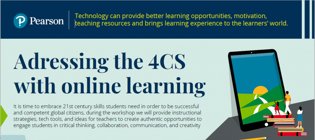 Addressing the 4Cs with online learning