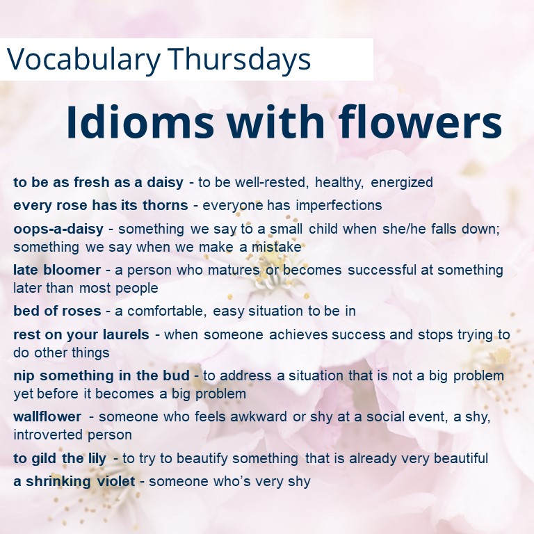Idioms with flowers
