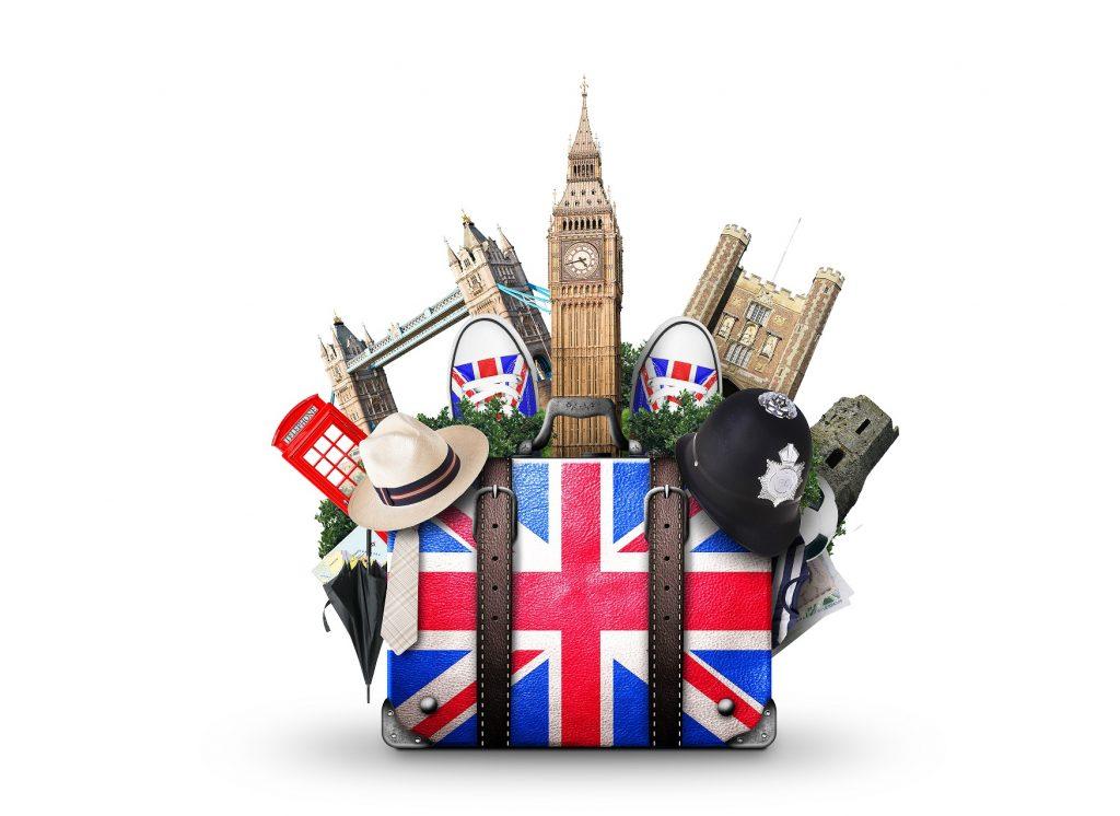 England, vintage suitcase with British flag; Shutterstock ID 626470919; Amministratore Fatturazione: Martina Nordio; Progetto: Pagina Riconnessioni; Dipartimento: Marketing; ISBN/Progetto: WF155 N1604